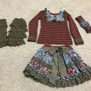 Mustard Pie complete fall outfit size 6 girls